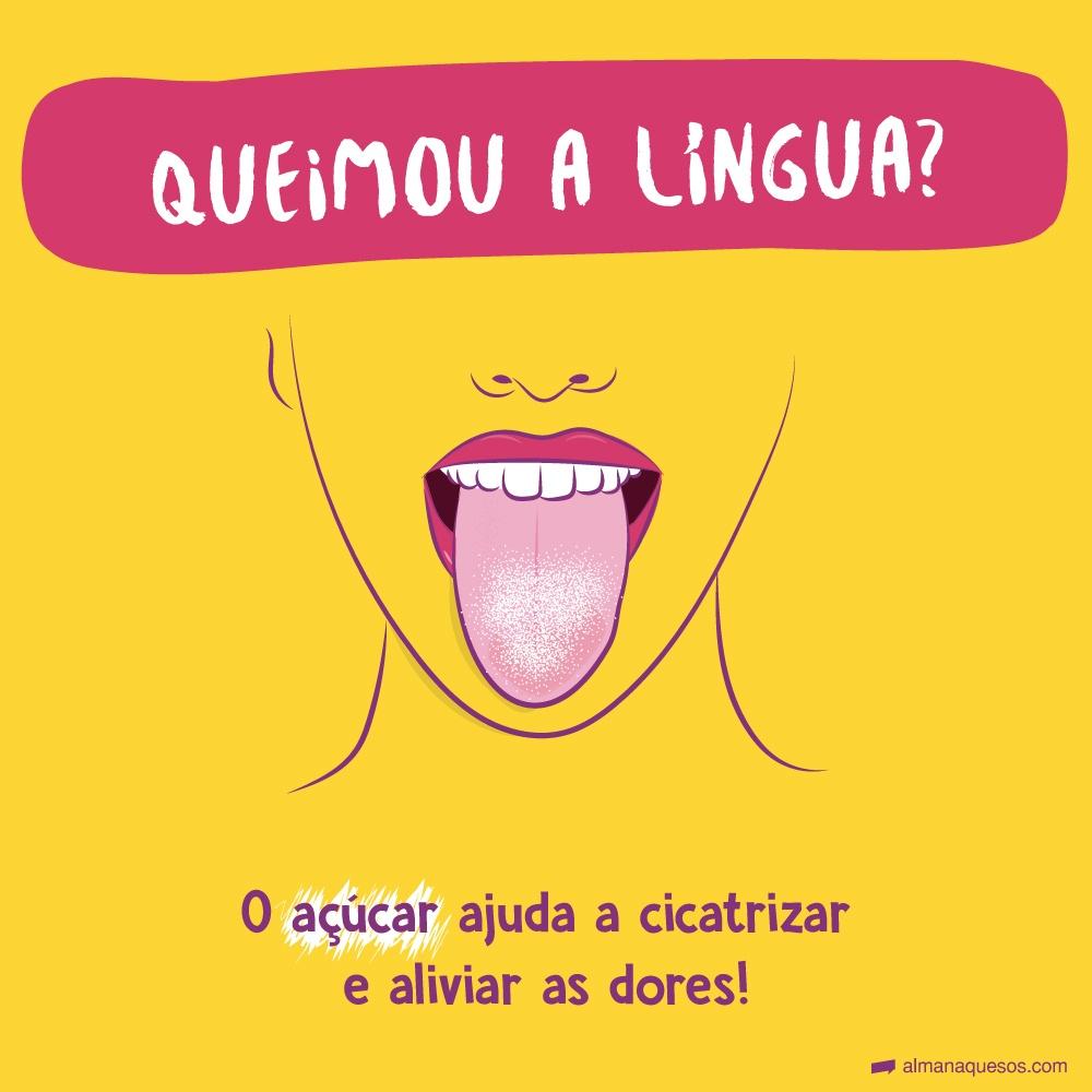 Queimou a língua? O açúcar ajuda a cicatrizar e aliviar as dores!